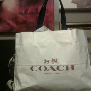 Large navy blue coach tote